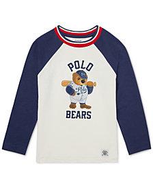 Polo Ralph Lauren Toddler Boys Polo Bear Cotton Baseball T-Shirt