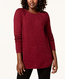 Plus Size Curved-Hem Pullover Sweater, Created for Macy's