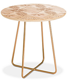 Deny Designs Dash and Ash Under The Willow Tree Round Side Table
