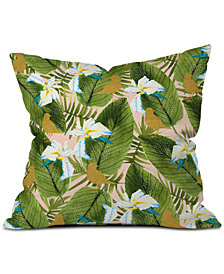 Deny Designs Marta Barragan Camarasa En Birds In The Rainforest Throw Pillow