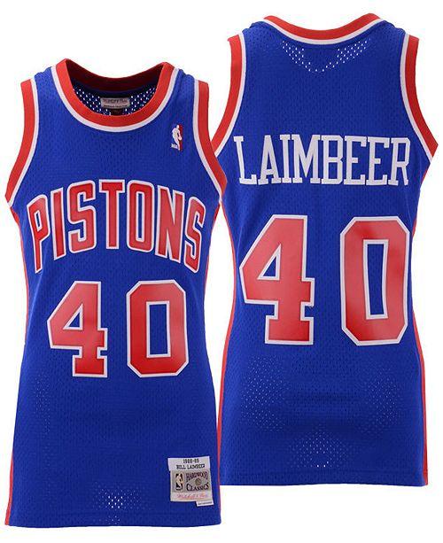 sale retailer d5f12 b2255 Men's Bill Laimbeer Detroit Pistons Hardwood Classic Swingman Jersey