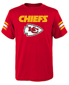 Outerstuff Kansas City Chiefs Goal Line T-Shirt, Big Boys (8-20)