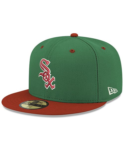 e6435690142 New Era Chicago White Sox Green Red 59FIFTY FITTED Cap - Sports Fan ...