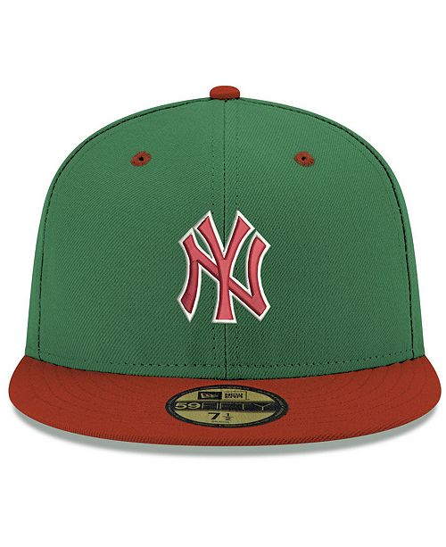 a7356c50679 New Era New York Yankees Green Red 59FIFTY FITTED Cap   Reviews ...