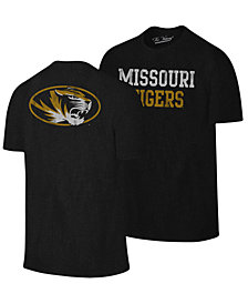 Retro Brand Men's Missouri Tigers Team Stacked Dual Blend T-Shirt