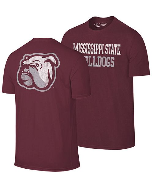 Retro Brand Men's Mississippi State Bulldogs Team Stacked Dual Blend T-Shirt
