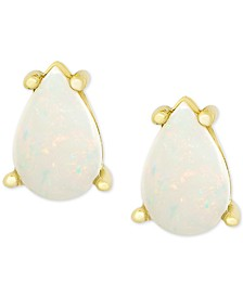 Opal Stud Earrings (1 ct. t.w.) in 18k Gold-Plated Sterling Silver