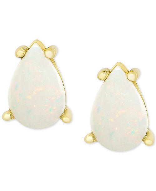 Macy's Opal Stud Earrings (1 ct. t.w.) in 18k Gold-Plated Sterling Silver
