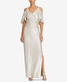 Lauren Ralph Lauren Cold-Shoulder Jersey Gown