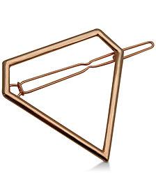 GUESS Rose Gold-Tone Diamond-Shape Hair Pin