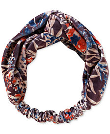 Lucky Brand Floral-Print Velvet Headband, Created for Macy's