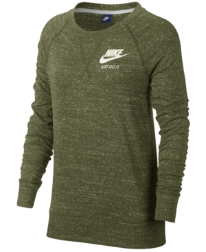 Olive Sweatshirt In Crew Canvassail Gym Sportswear Vintage Nike waBTTY