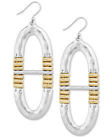 Lucky Brand Two-Tone O-Shape Drop Earrings