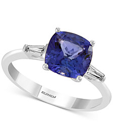 EFFY® Tanzanite (1-9/10 ct. t.w.) & Diamond (1/8 ct. t.w.) Ring in 14k White Gold