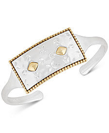 Lucky Brand Two-Tone Patterned Cuff Bracelet