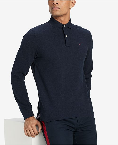 2148b4c1f Tommy Hilfiger Men's Classic Fit Long Sleeve Polo Shirt, Created for Macy's