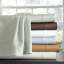 Pointehaven Solid 4-Pc. Extra Deep Sheet Sets, 500 Thread Count Cotton Sateen