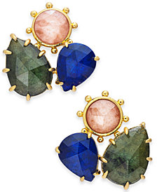 kate spade new york Gold-Tone Stone Cluster Stud Earrings