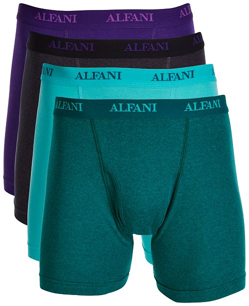eb746725a5bb Alfani Men's 4-Pk. Cotton Boxer Briefs, Created for Macy's & Reviews ...