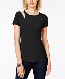 I.N.C. Petite Cutout Top, Created for Macy's