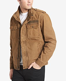 Men's Cotton Zip-Front Jacket