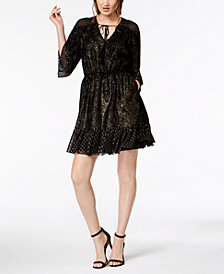 Rachel Zoe Kaya Metallic Textured Dress