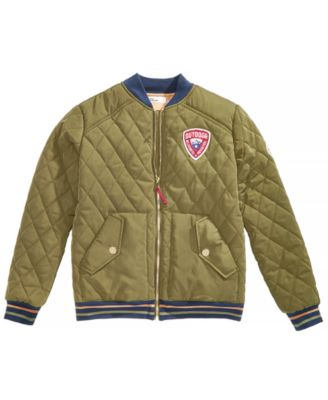 Big Boys Quilted Bomber Jacket, Created for Macy's