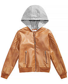 Epic Threads Big Boys Layered-Look Hooded Bomber Jacket, Created for Macy's