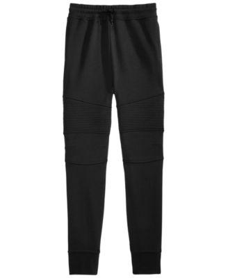 Big Boys Moto Knit Jogger Pants, Created for Macy's