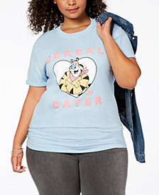 Hybrid Plus Size Cotton Tony Tiger Cereal Dater Graphic T-Shirt