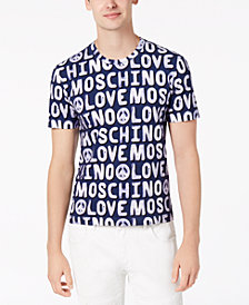 Love Moschino Men's Slim-Fit Logo Print T-Shirt