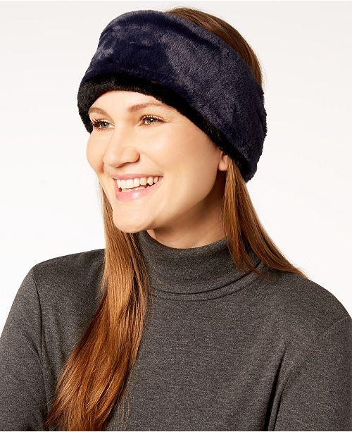 25be42d4100 Calvin Klein Two-Tone Faux-Fur Headband   Reviews - Handbags ...