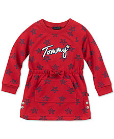 Tommy Hilfiger Toddler Girls French Terry Star-Print Dress