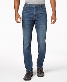 Men's Straight-Fit Stretch Jeans, Created for Macy's