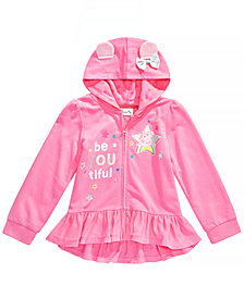 Peppa Pig Little Girls Peplum Full-Zip Hoodie