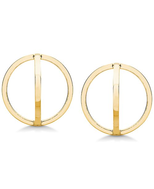 Macy's Spherical Square-Tube Drop Earrings in 10k Gold