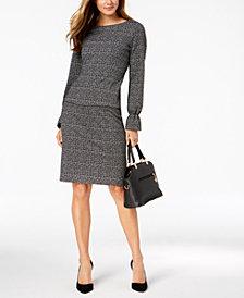 Nine West Tweed Blouse & Pencil Skirt