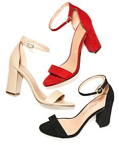 3c0518823f6 Black Ankle Strap Heels - Macy's