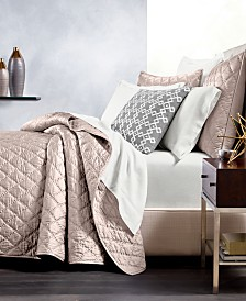 CLOSEOUT! Hotel Collection Silk Quilted Full/Queen Coverlet, Created for Macy's