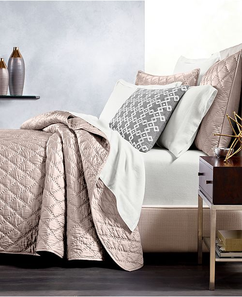 Hotel Collection CLOSEOUT! Silk Quilted Full/Queen Coverlet, Created for Macy's