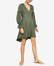 BCBGMAXAZRIA Textured High-Low Dress