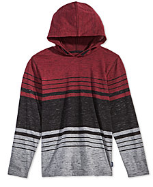 Univibe Big Boys Striped Colorblocked Hoodie
