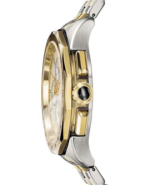a08c37704 ... Versace Men's Swiss Glaze Two-Tone Stainless Steel Bracelet Watch ...