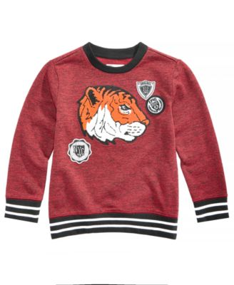 Little Boys Tiger-Print Sweatshirt, Created for Macy's