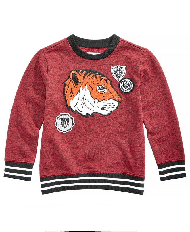 Epic Threads Toddler Boys Tiger-Print Sweatshirt, Created for Macy's
