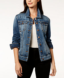 Kut from the Kloth Emma Cotton Denim Boyfriend Jacket