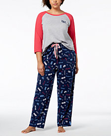 Jenni by Jennifer Moore Plus Size Sleep Separates, Created for Macy's