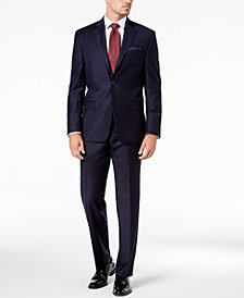 Lauren Ralph Lauren Navy Solid Wool UltraFlex Classic-Fit Suit