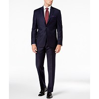 Deals on Lauren Ralph Lauren Navy Solid Wool UltraFlex Classic-Fit Suit