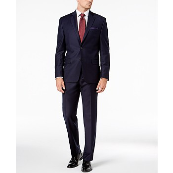 Ralph Lauren Navy Solid Wool UltraFlex Classic-Fit Suit